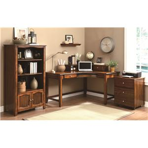 Coaster Jacqueline Three Tiered Bookshelf with Cabinet