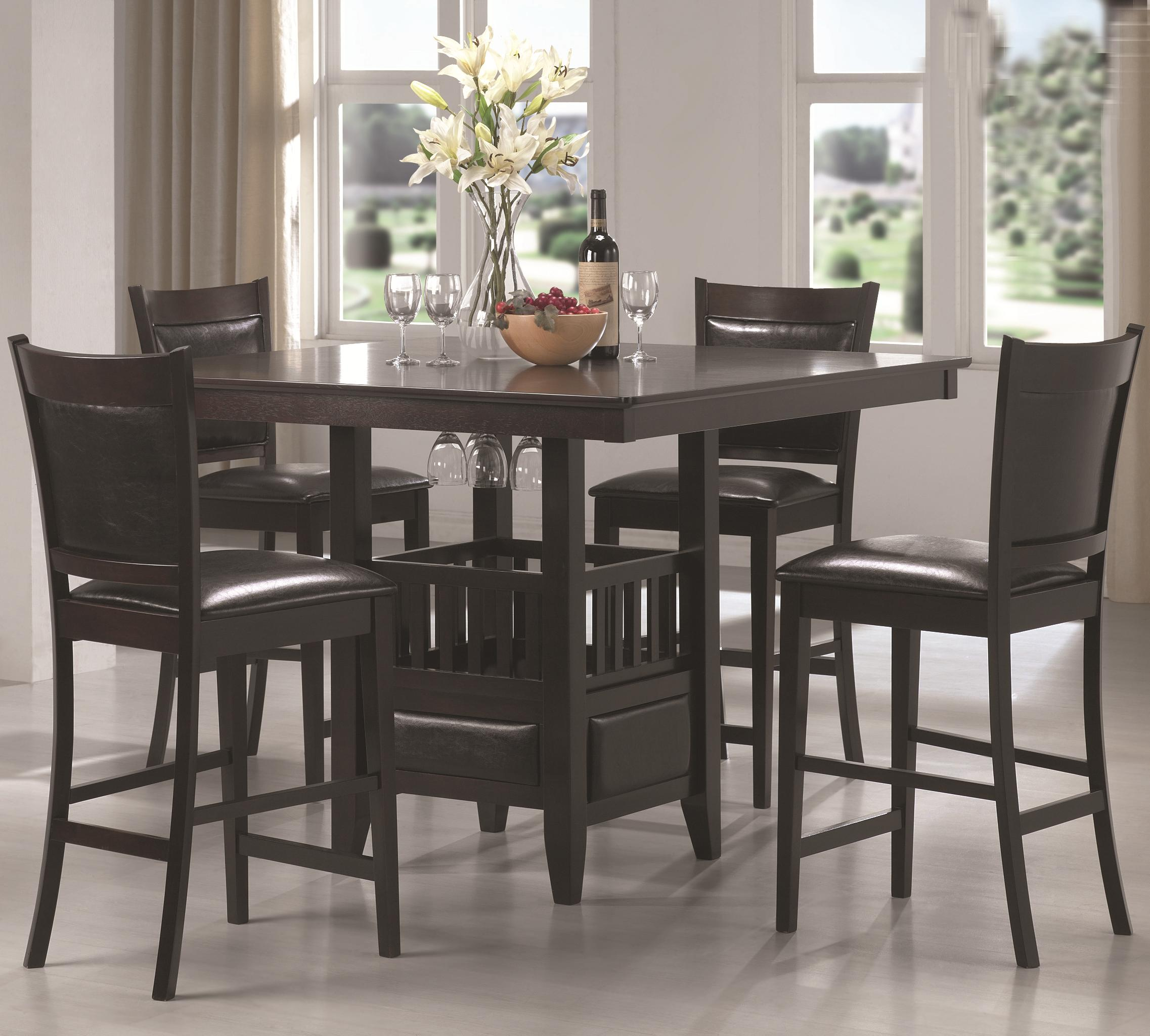 Coaster Jaden Counter Height Table U0026 Stool Set   Item Number: 100958+4x959