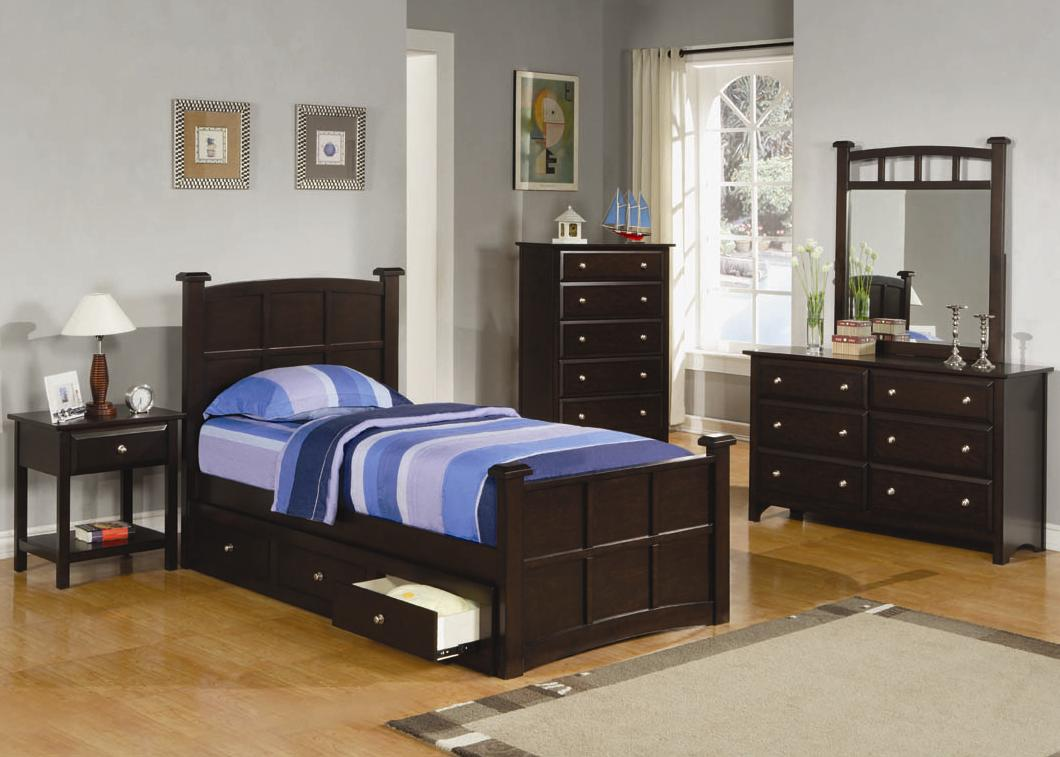 Coaster Jasper Twin Bedroom Group - Item Number: 400750+460130 T Bedroom Group 1