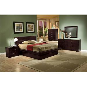 Coaster Jessica California King Bed with Built-in Touch Lighting