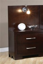 Nightstand and Light on Pier Bed