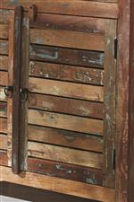 Window Shutter Inspired Cabinet Doors