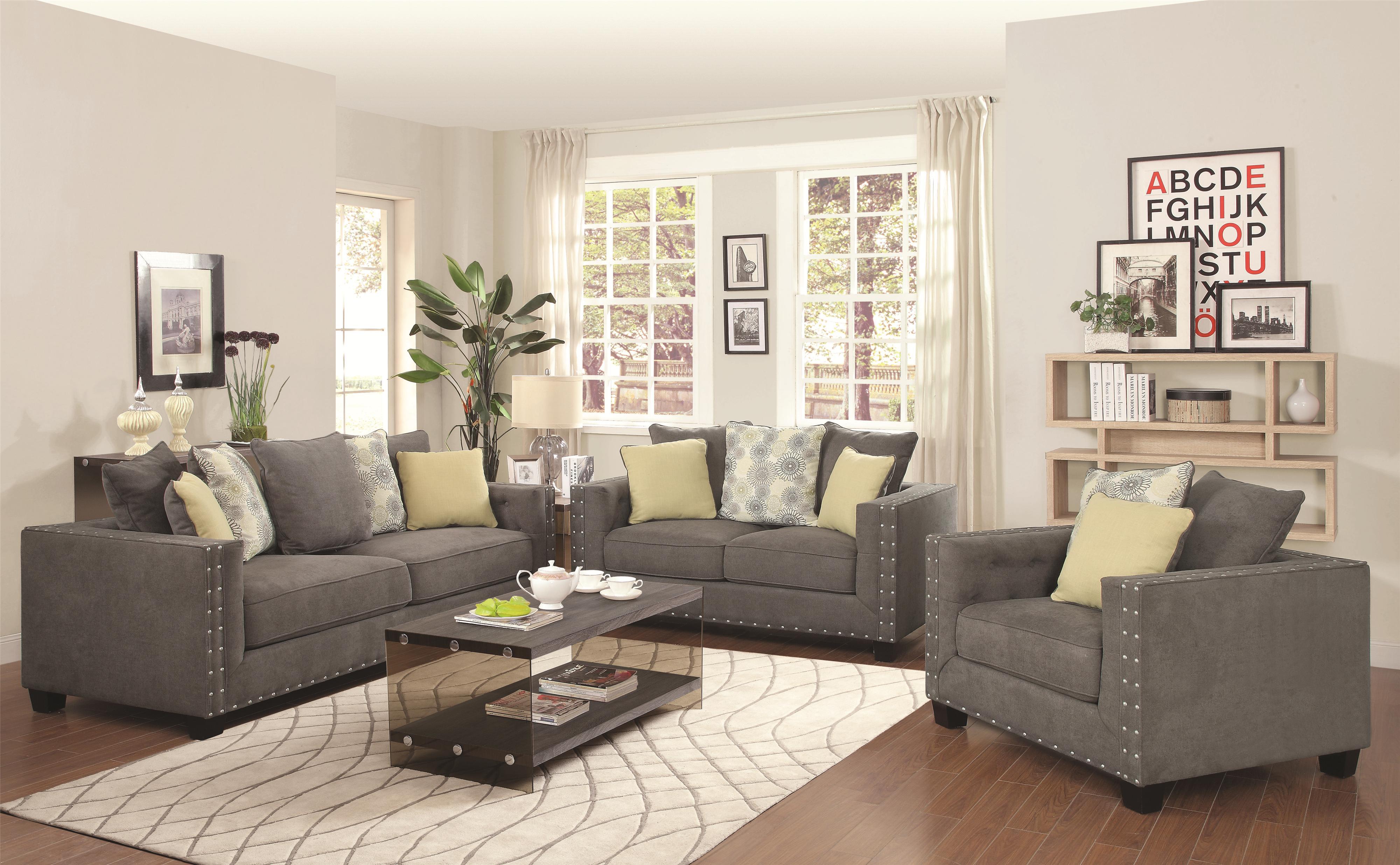 Coaster Kelvington Stationary Living Room Group - Item Number: 50142 Living Room Group 1
