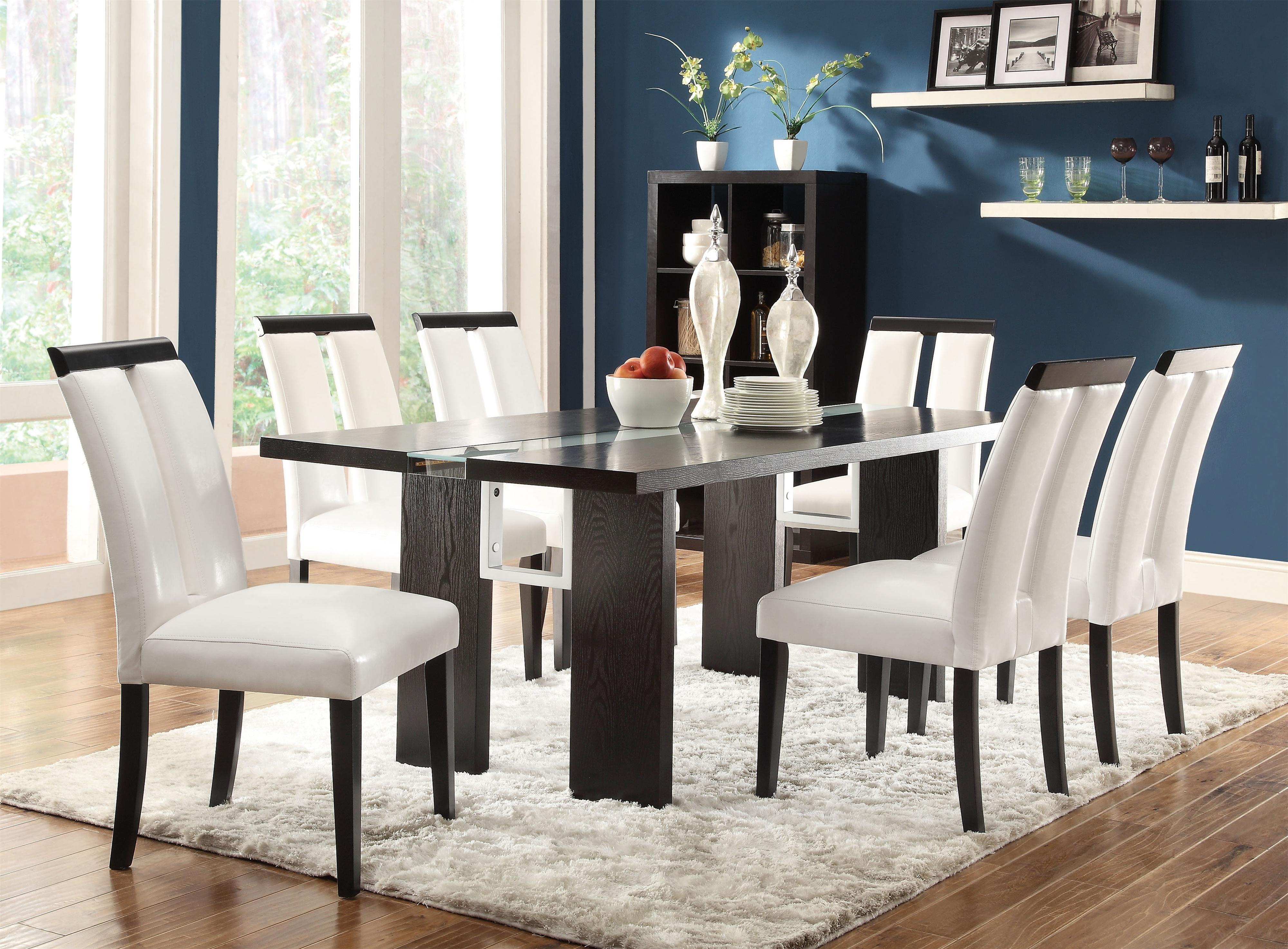 Coaster Kenneth 7 Piece Set With LED Lit Dining Table   Item Number: 104561+