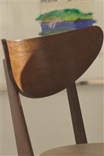 Deep Curved Chair Backs Create a Casual Retro Look that is also Comfortable