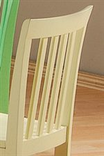Simple Vertical Slat Back Chairs