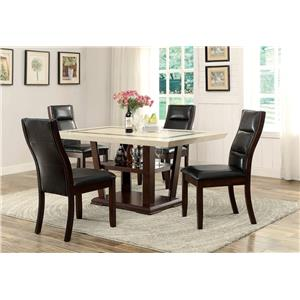 Coaster Lacombe 5 Piece Pub Table Set with Counter Height Chairs