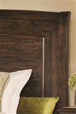 Slight Sleigh Headboard with Raised Panels