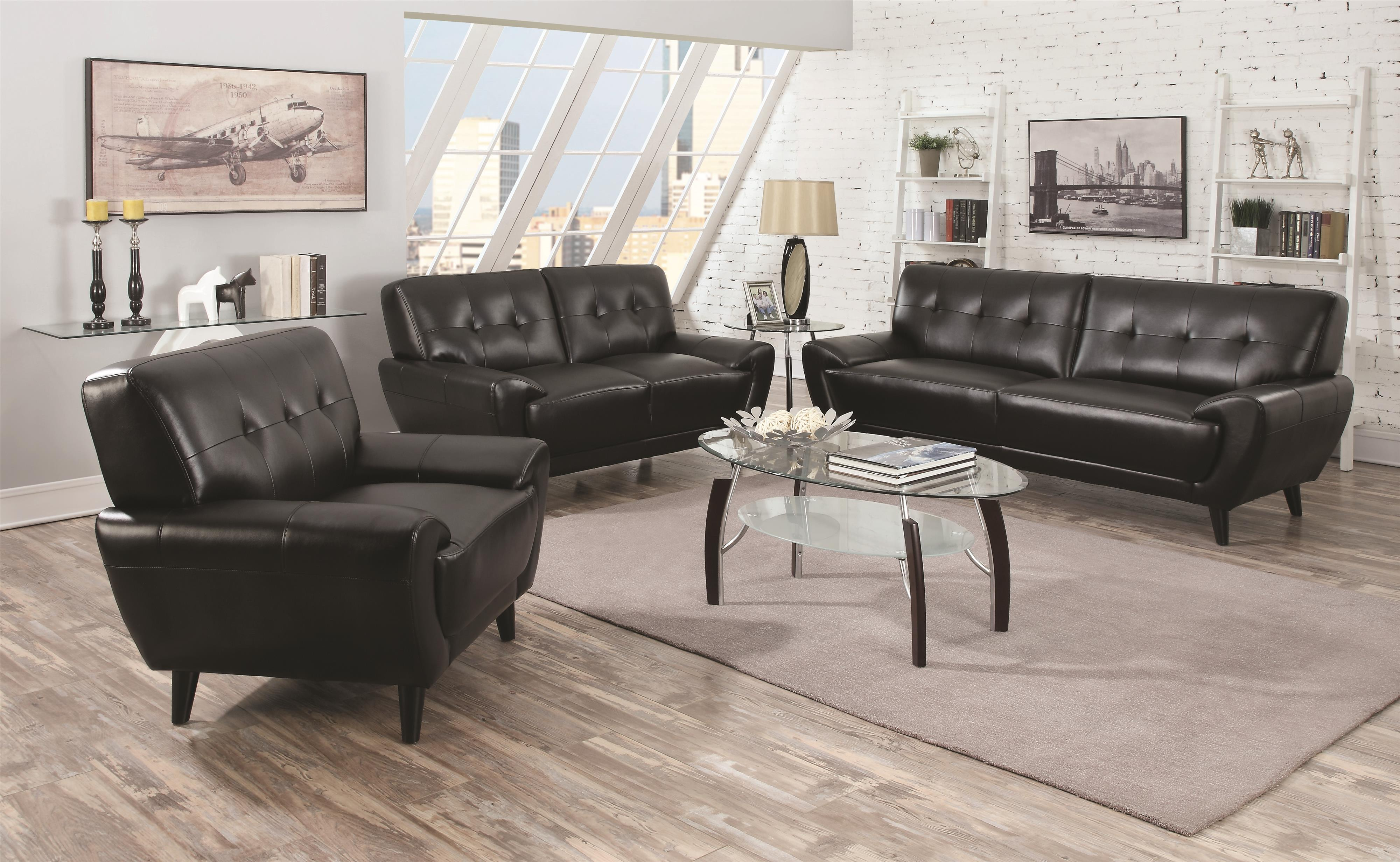 Coaster Leskow Stationary Living Room Group - Item Number: 50521 Living Room Group 1