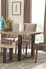 Bold U-Shaped Iron Base and Solid Mango Seat and Table Top