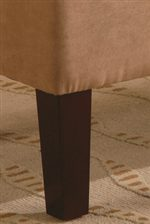 Exposed Tapered Wood Legs