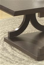 Smooth, Sharp Cornered Edges of the Unique Coffee Table