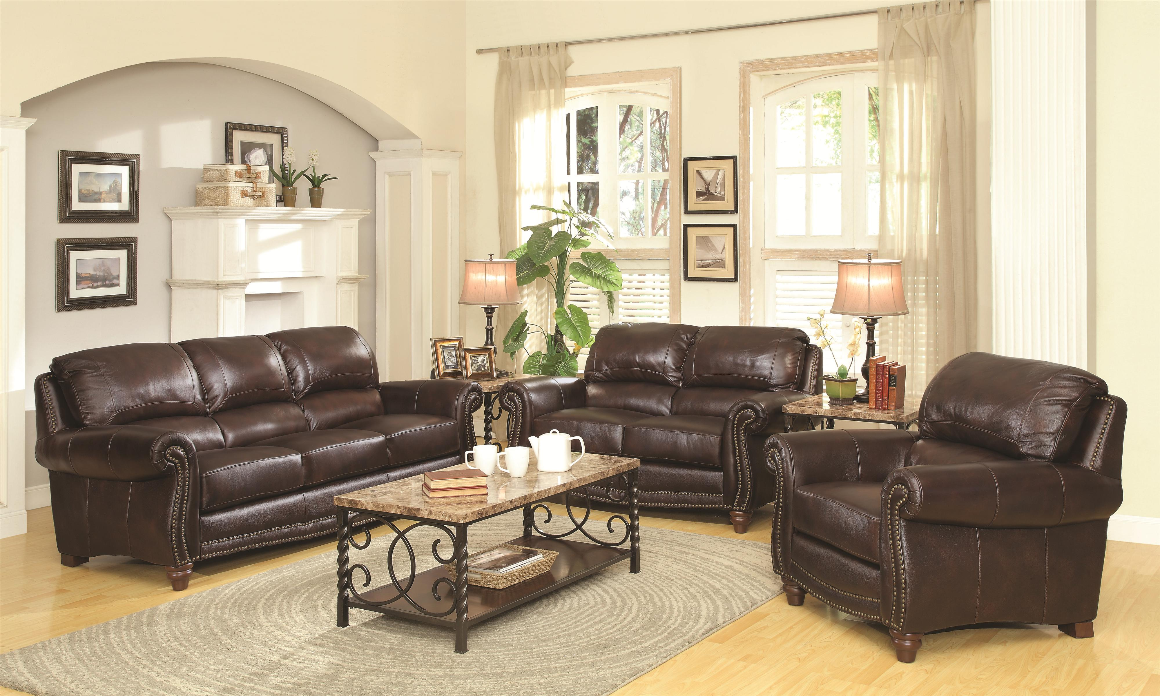 Coaster Lockhart Stationary Living Room Group - Item Number: 50469 Living Room Group