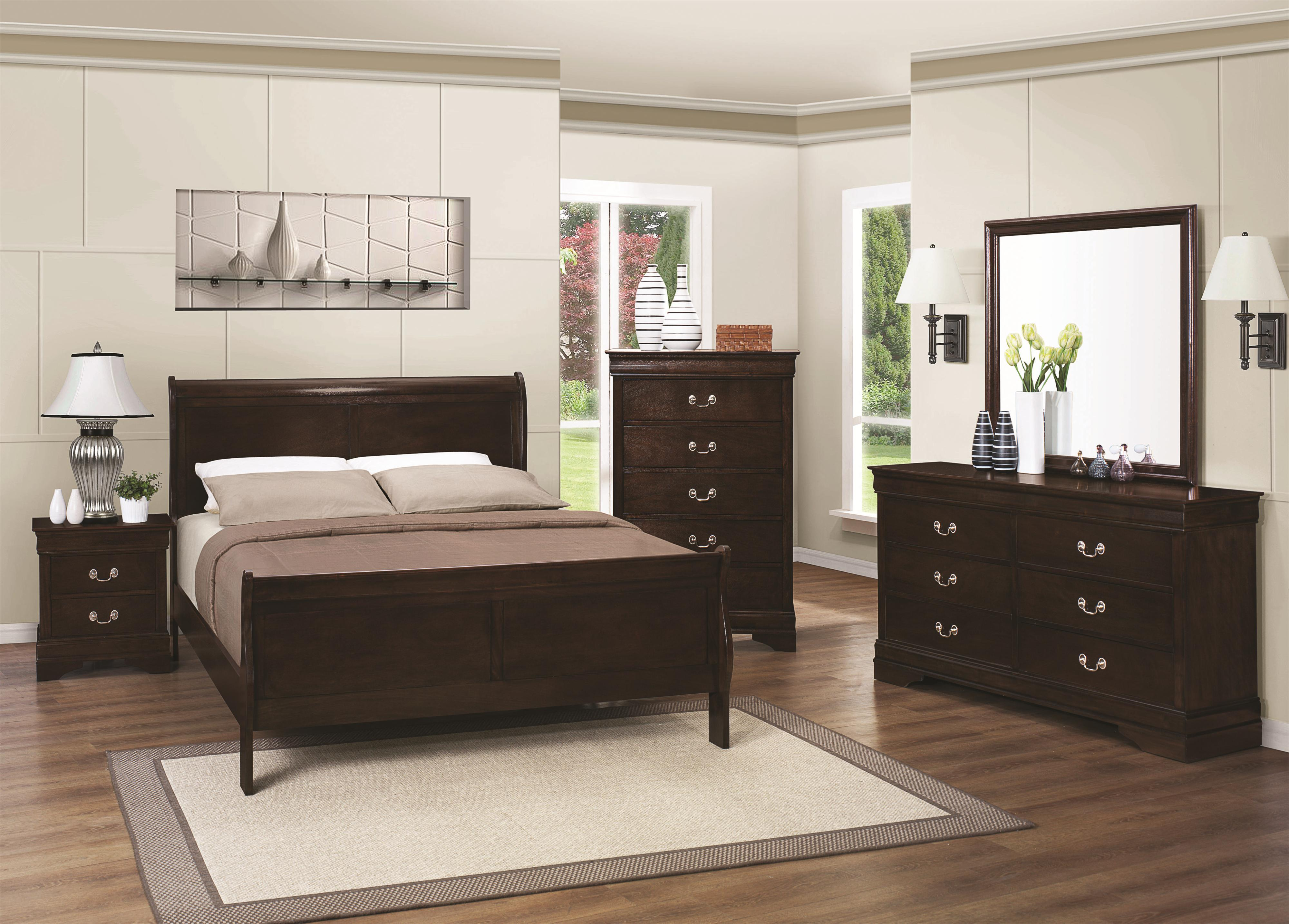 Coaster Louis Philippe 202 Full Bedroom Group - Item Number: 202 F Bedroom Group 1
