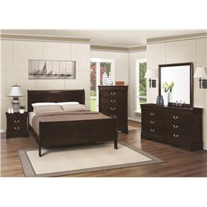 Coaster Louis Philippe 202 Queen Bedroom Group