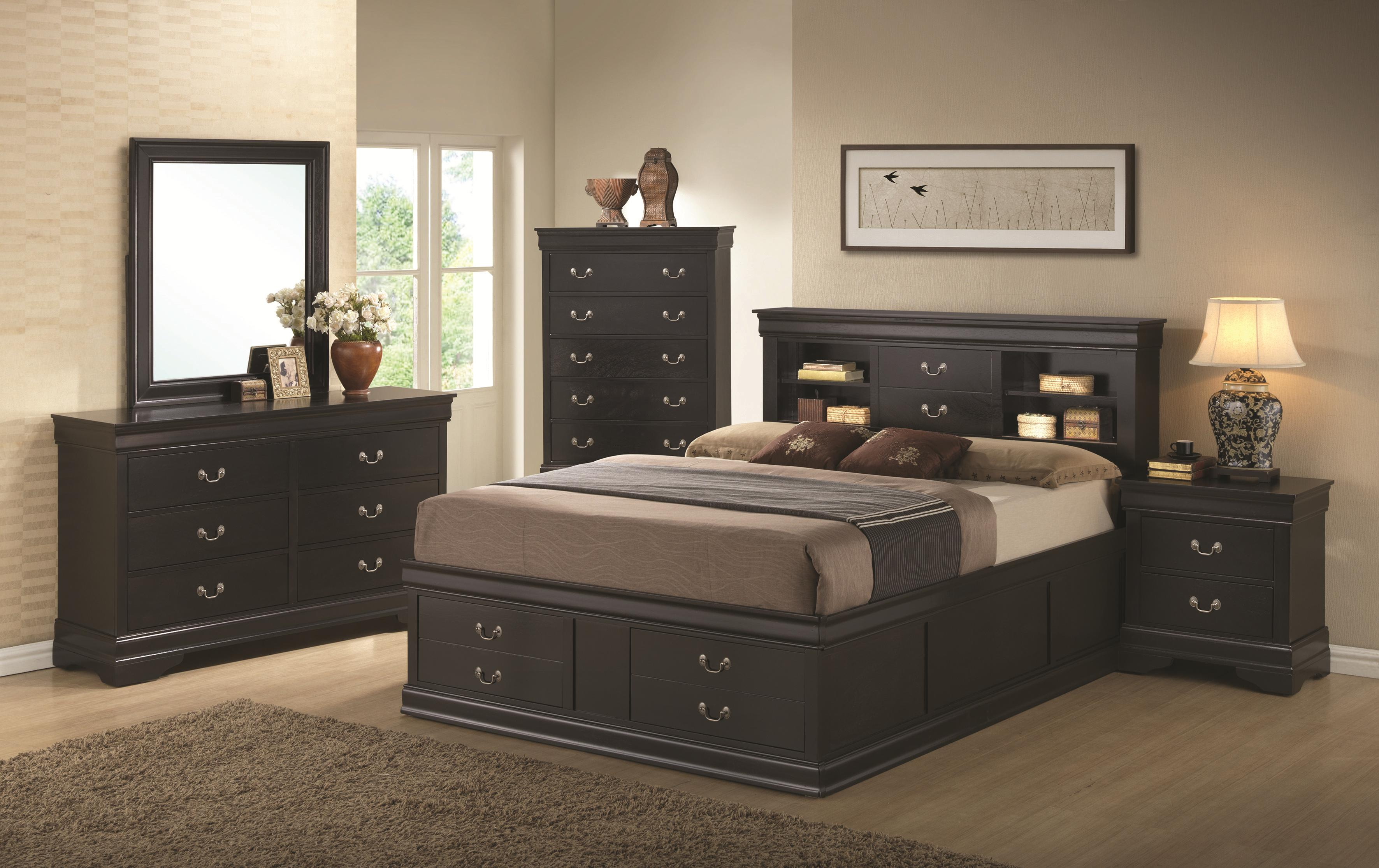 Coaster Louis Philippe Queen Bedroom Group   Item Number: 203960B Q Bedroom  Group 1