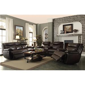 Coaster MacPherson Casual Power Reclining Loveseat with Storage and USB Charging Ports