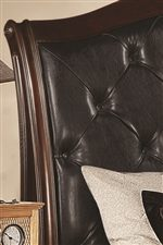 Faux Leather Tufted Headboard