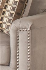 Padded Track Arms with Nailhead Trim