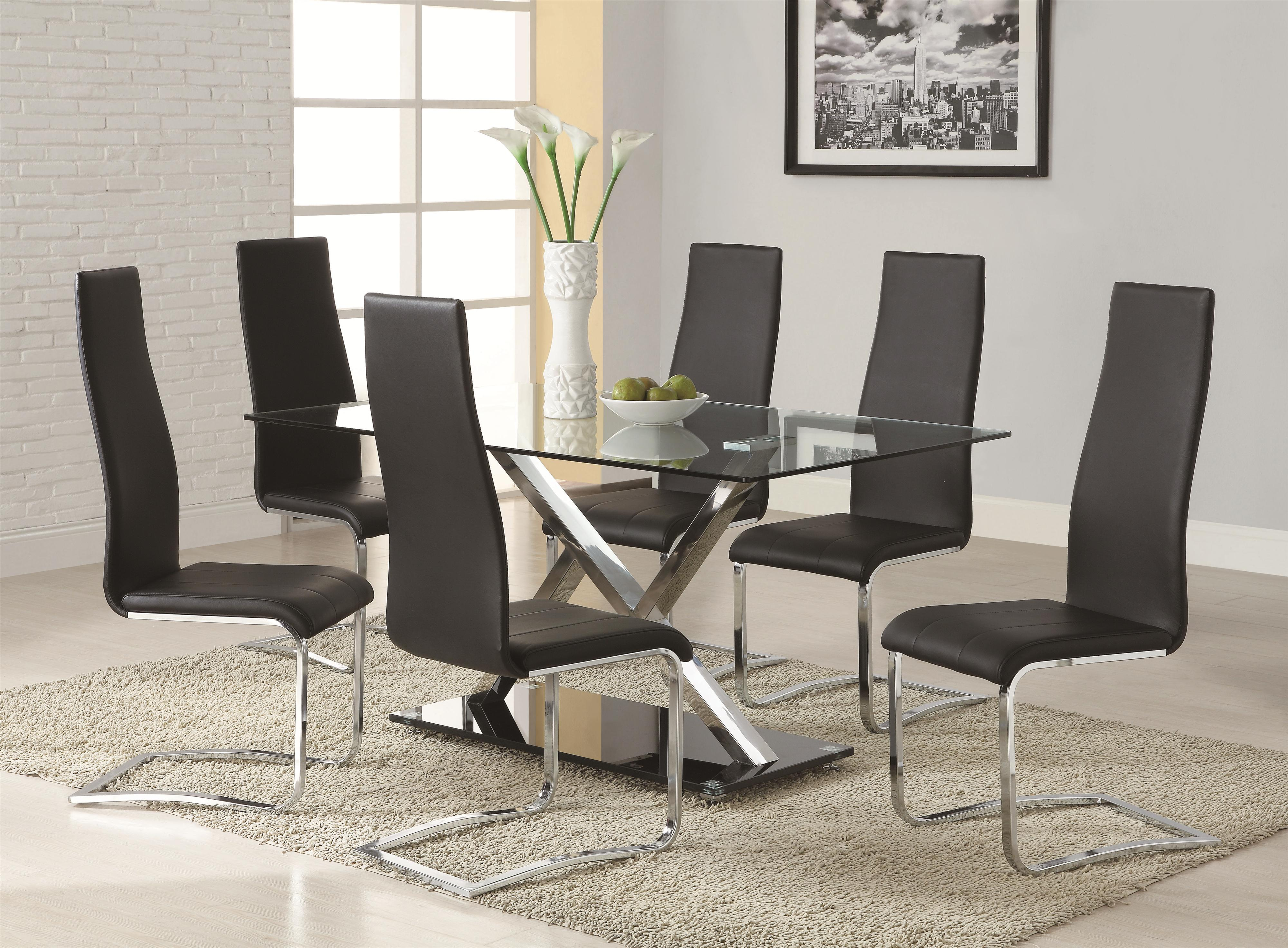Coaster modern dining contemporary dining room set northeast factory direct dining 7 or more piece sets cleveland eastlake westlake mentor medina