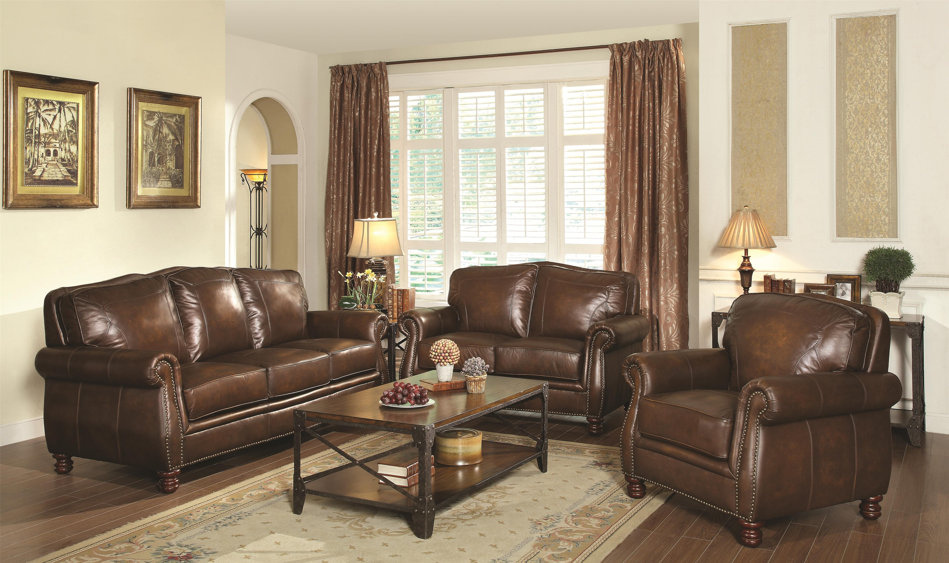 Coaster Montbrook Stationary Living Room Group - Item Number: 50398 Living Room Group 1