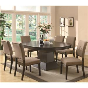 Coaster Myrtle Dining Oval Table w/ Extension