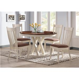 Coaster Naomi 10434 Dining Side Chair with Stern Bent Slat Back