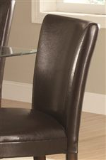 Durable Brown Leather Like Vinyl Chairs