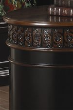 Elegant Curved Edge with Intricate Floral Carving Trim
