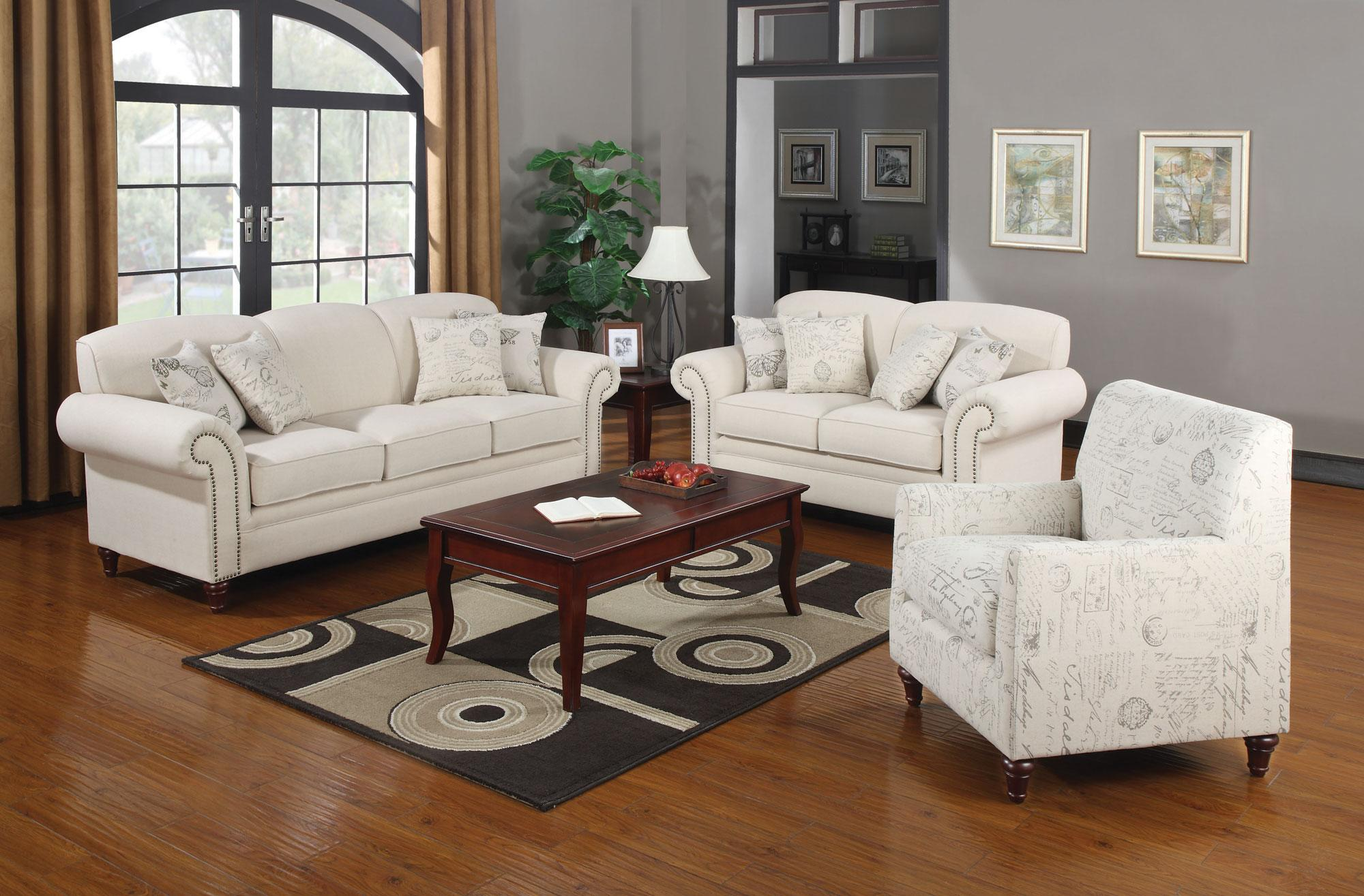 Coaster Norah Stationary Living Room Group - Item Number: 502510 Living Room Group 1