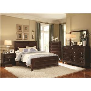 Coaster Nortin Queen Panel Wood Bed