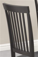 Classic Vertical Slat Chair Back