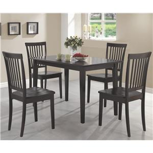 Coaster Oakdale 5 Piece Dining Set