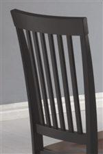 Classic Vertical Slat Chair Back