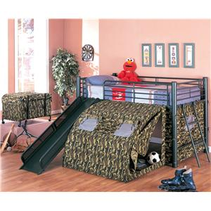 Coaster Oates Lofted Bed with Slide and Tent