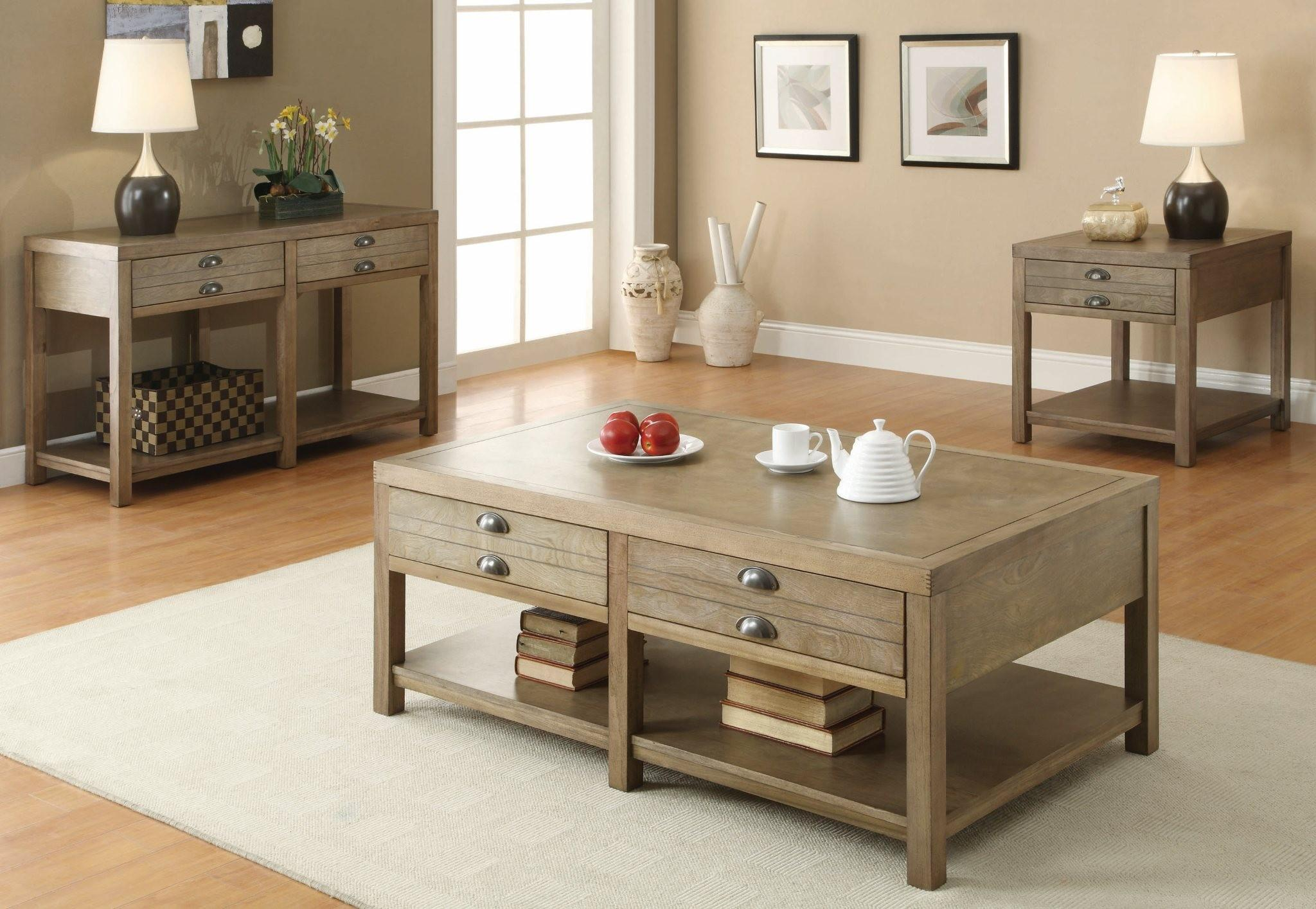 Coaster Occasional Group Cottage Sofa Table with Two Drawers | Rooms ...