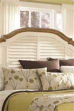Shutter Detailing on Headboard and Footboard Adds Country Focal Point to Your Bedroom