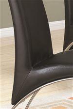 Black Vinyl Upholstery