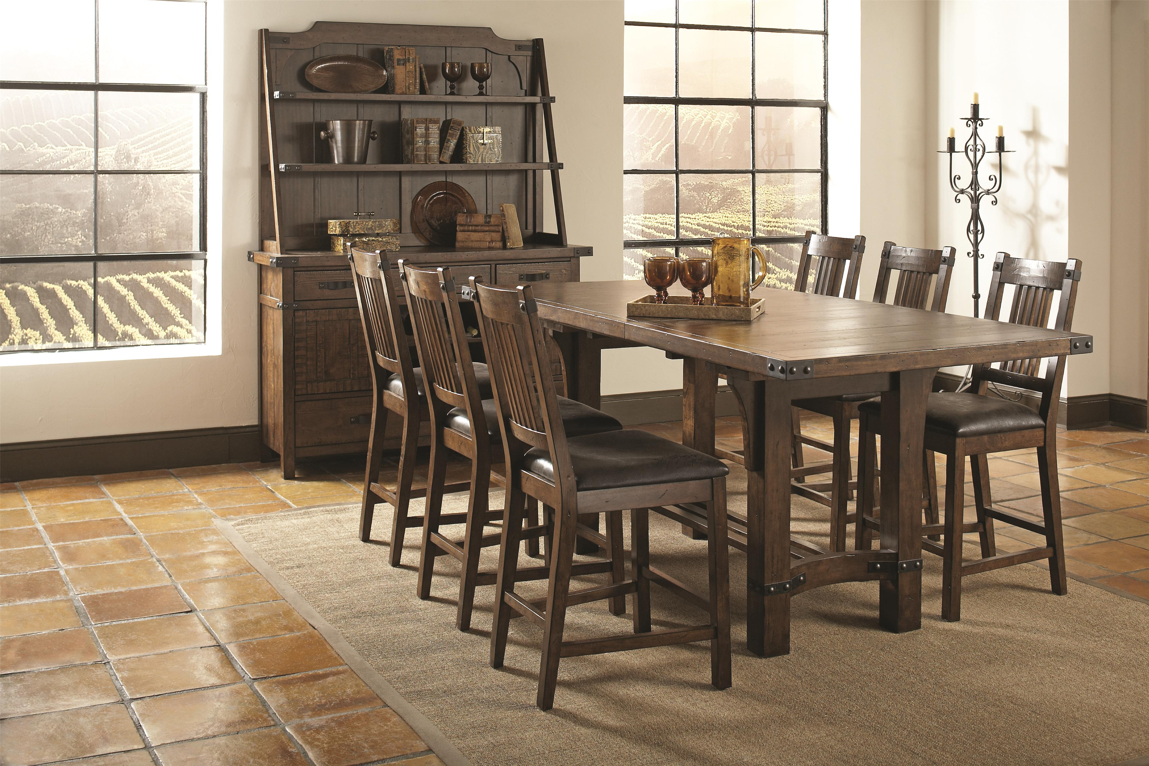 Coaster Padima Casual Dining Room Group - Item Number: 10570 Dining Room Group 2