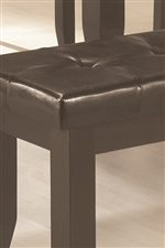 Dark Brown Leather-Like Durable Vinyl Seating