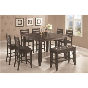 Coaster Page Contemporary Rectangular Semi-Formal Dining Table