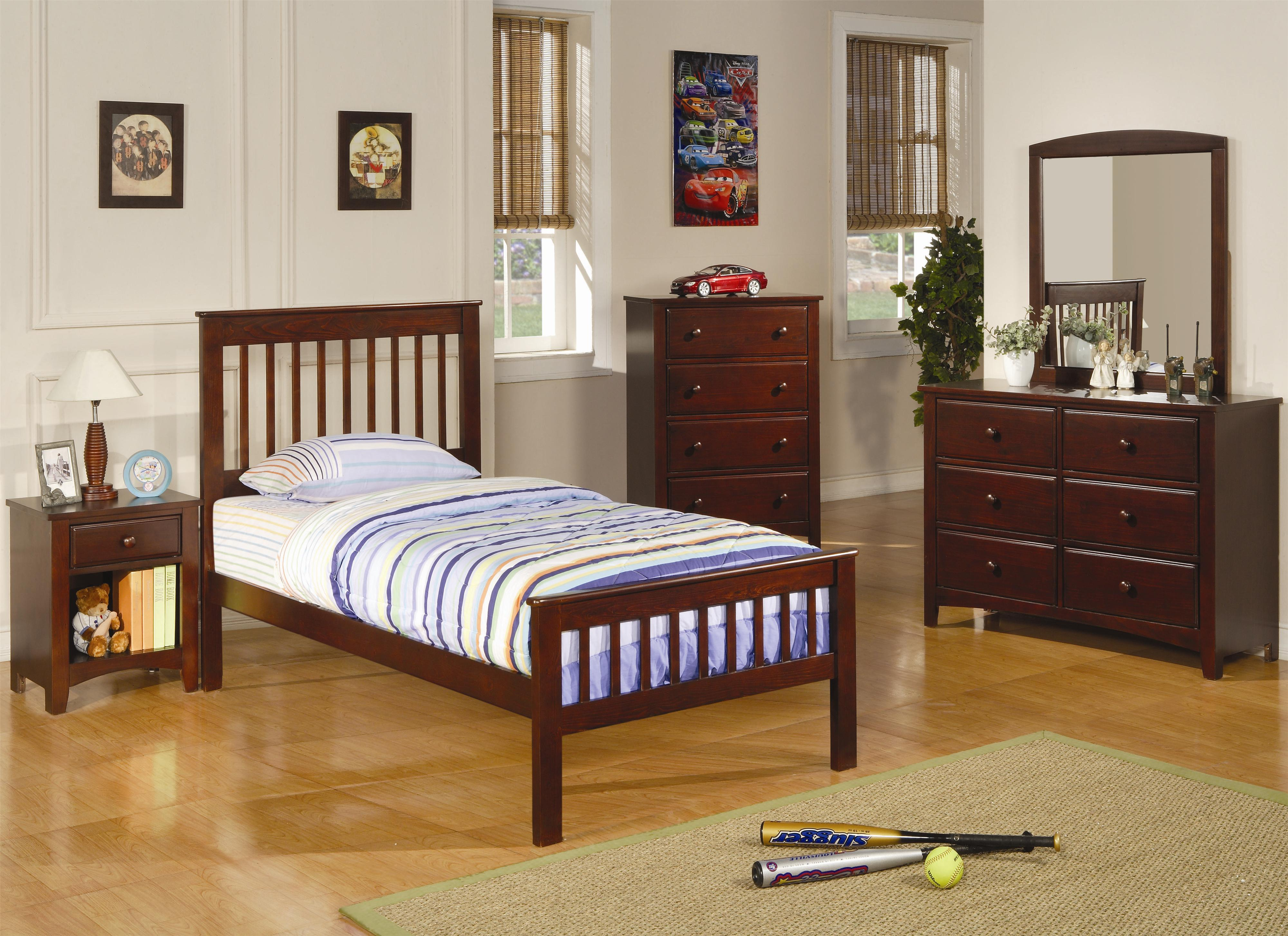 Coaster Parker Twin Bedroom Group - Item Number: 400290+460200 T Bedroom Group 2