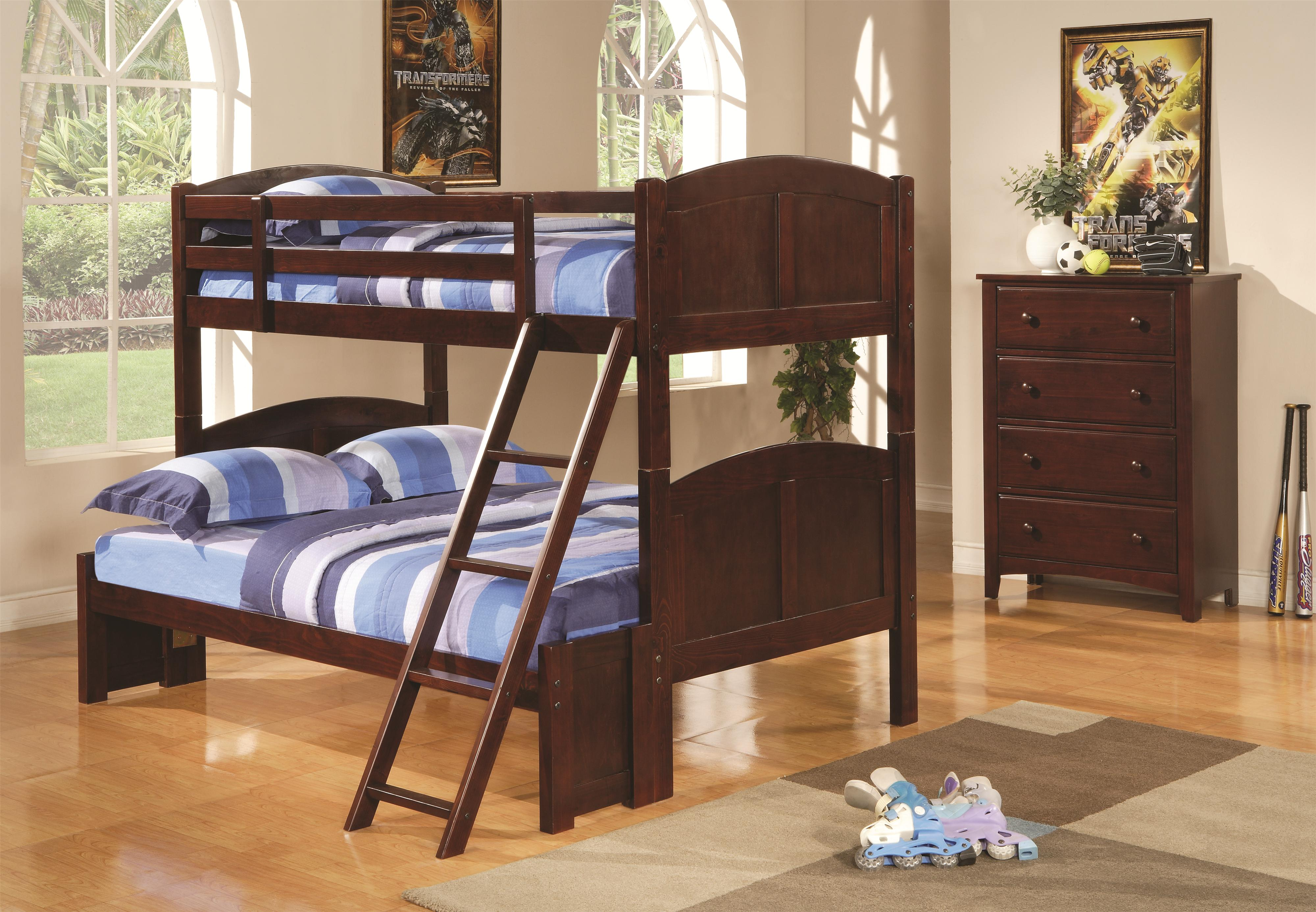 Twin Over Full Panel Bunk Bed Parker by Coaster Wilcox