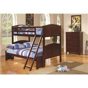 Coaster Parker Twin Over Full Bunk Bedroom Group