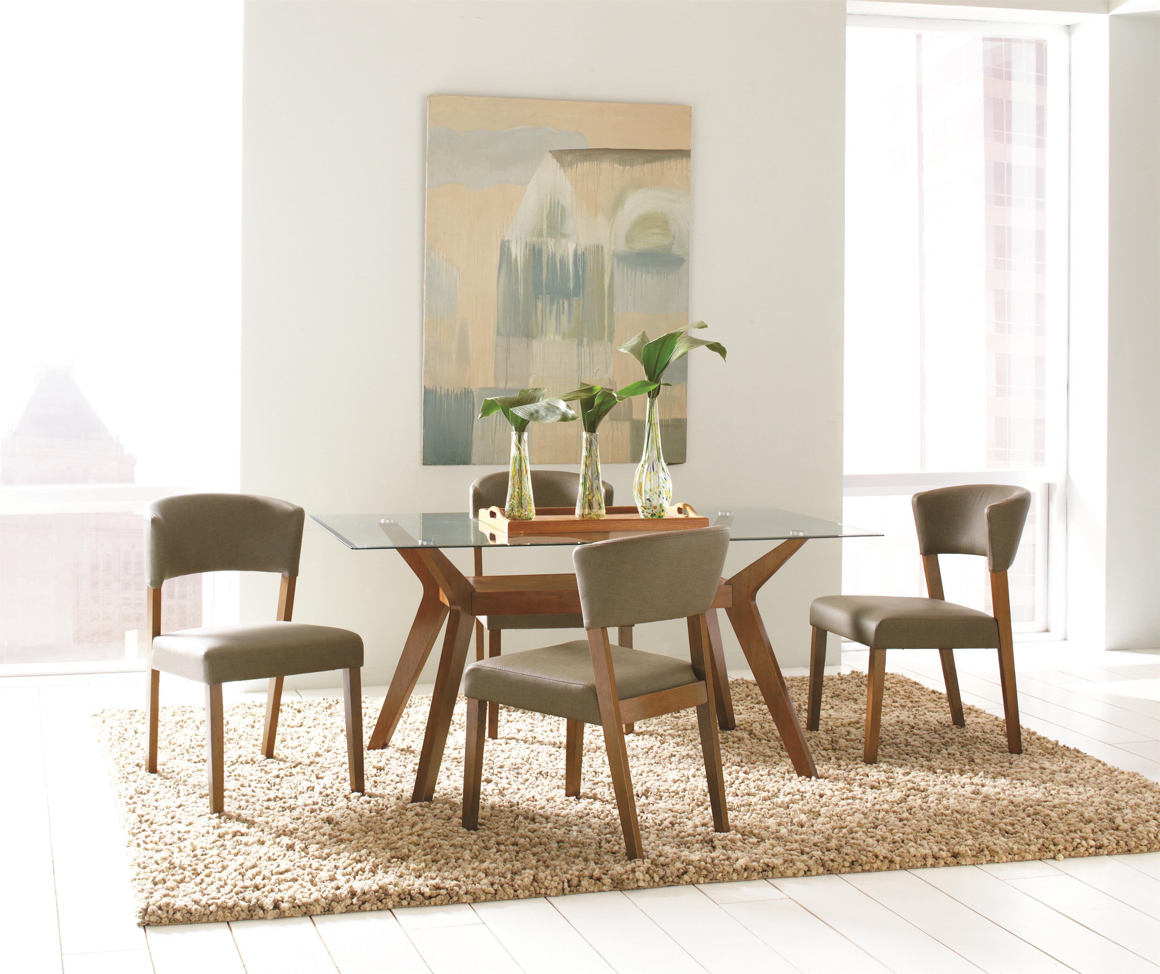 Coaster Paxton 12218 Round Dining Table Set | Northeast Factory Direct |  Dining 5 Piece Sets Cleveland, Eastlake, Westlake, Mentor, Medina, Ohio
