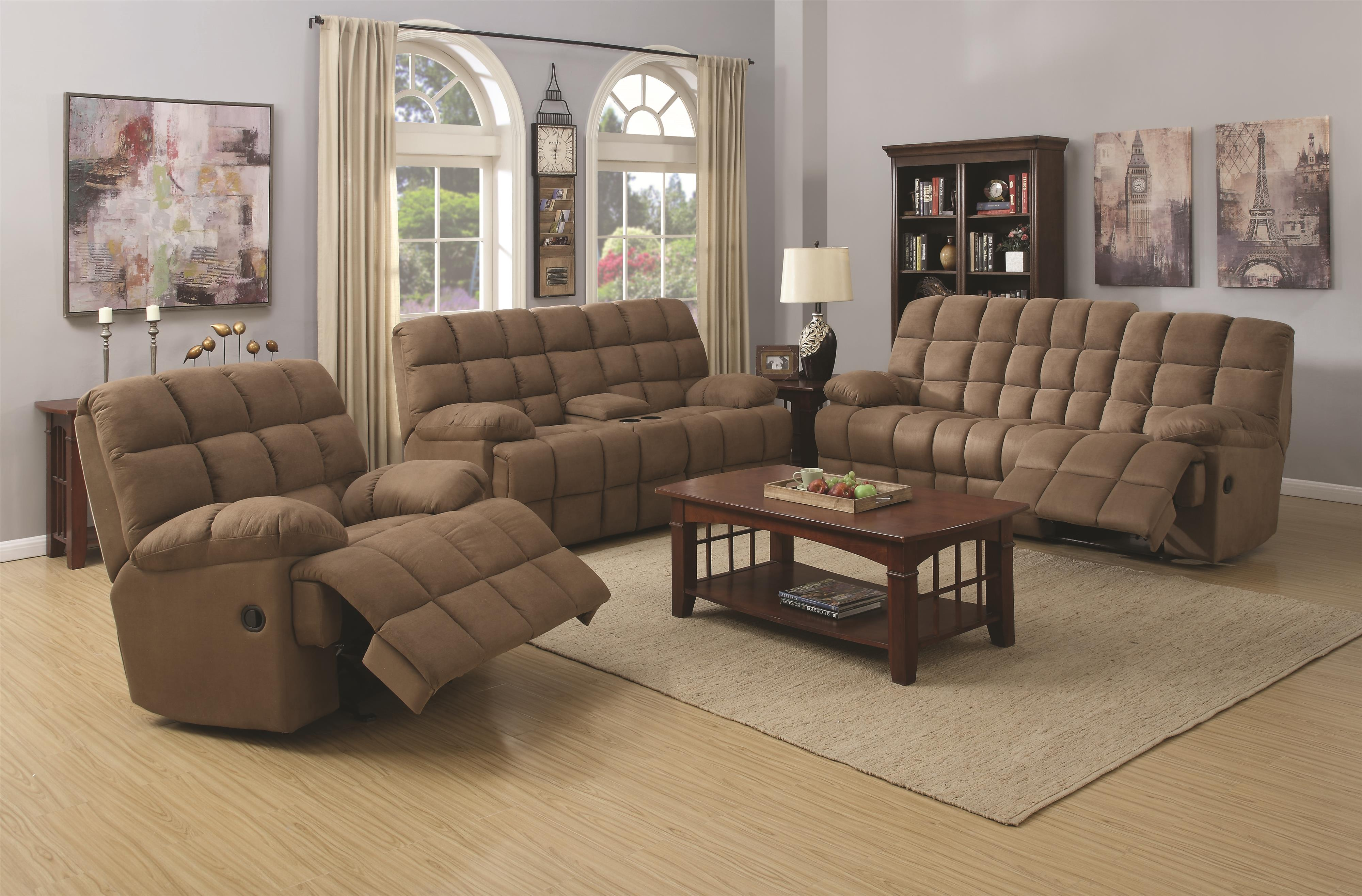 Coaster Pickett Reclining Living Room Group - Item Number: 60194 Living Room Group 1