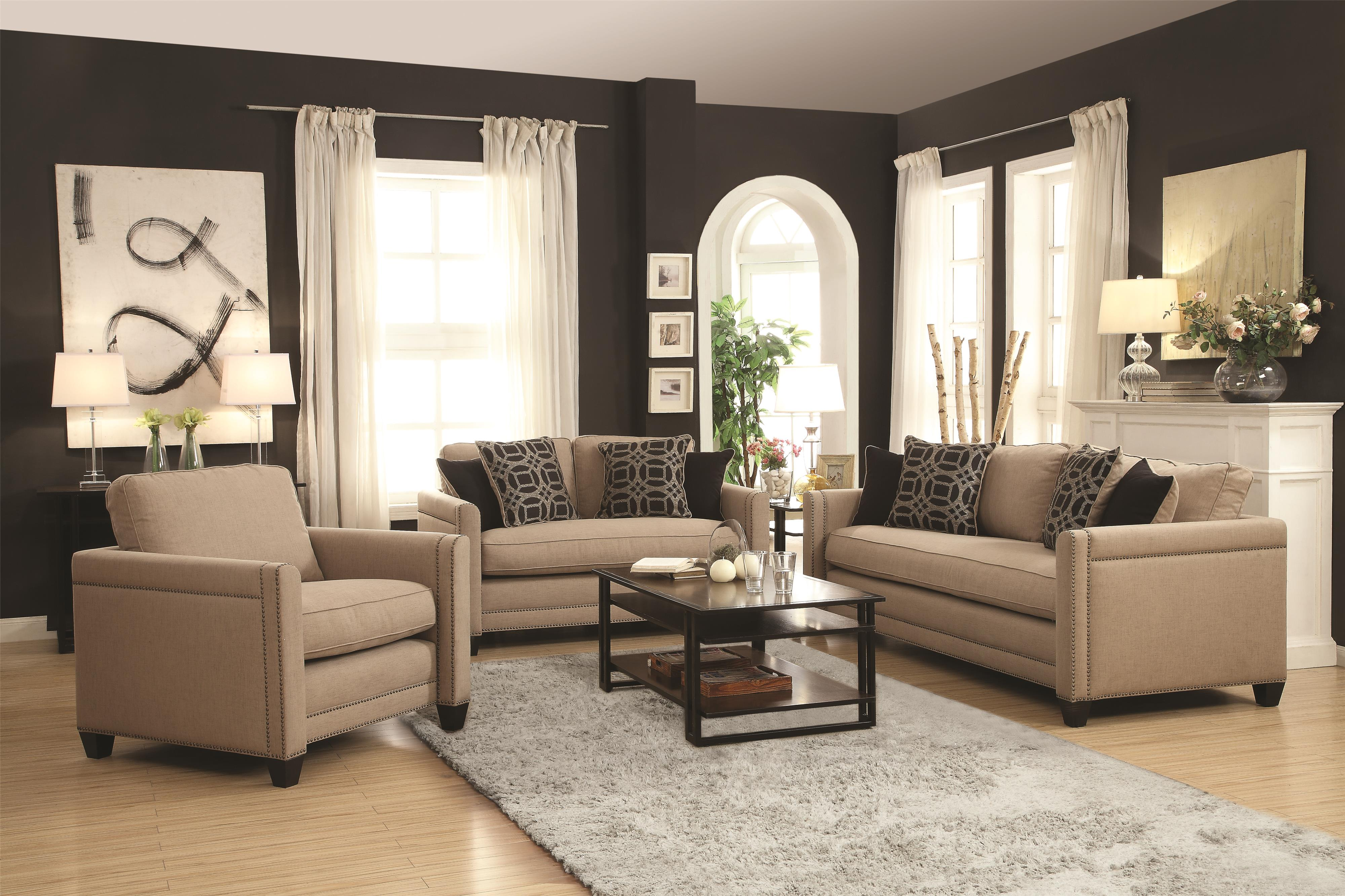 Coaster Pratten Stationary Living Room Group - Item Number: 50578 Living Room 1