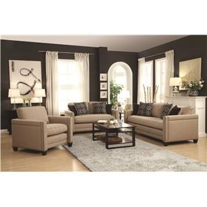 Coaster Pratten Stationary Living Room Group