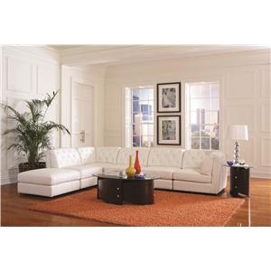 Coaster Quinn Transitional Modular Sectional Sofa