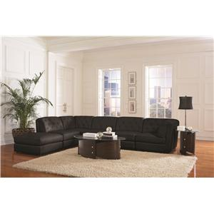 Coaster Quinn Transitional Modular Sectional Sofa